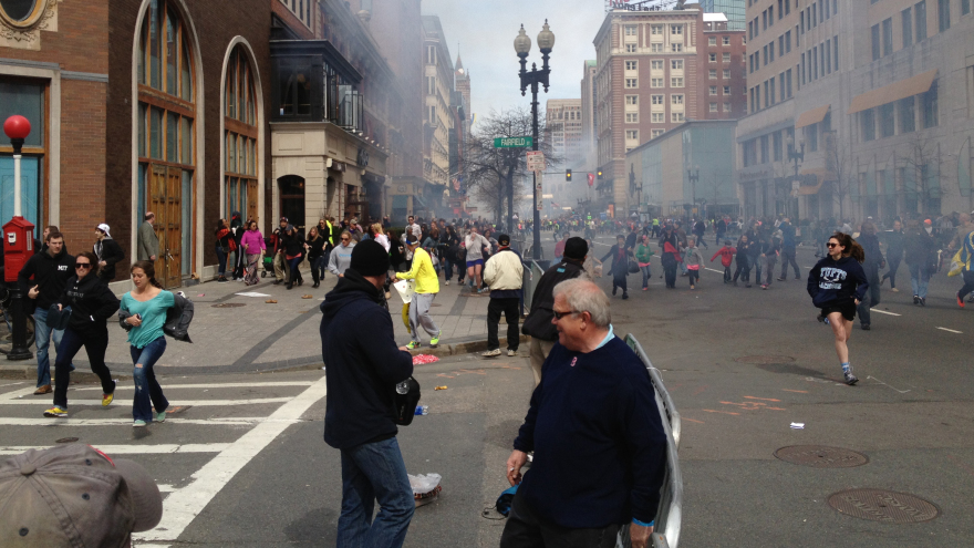 One lingering digital remnant of Dzhokhar, caught in a Facebook photo (in a white cap, at left). David Green